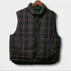 Vintage Eddie Bauer Reversible Goose Down Vest L